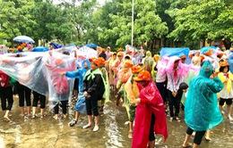Thầy trò Quảng Nam tham gia diễn tập ứng phó sóng thần