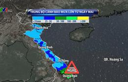 Cảnh báo mưa ngập cục bộ ở miền Trung