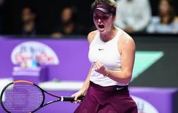 Bảng Tím WTA Finals 2019: Svitolina giành chiến thắng 2-0 trước Sofia Kenin