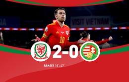 ĐT Xứ Wales 2-0 ĐT Hungary: Aaron Ramsey lập công đầu!