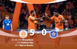 """ĐT Hà Lan 5-0 ĐT Estonia: Wijnaldum tỏa sáng, """"Cơn lốc màu da cam"""" đại thắng"""