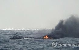 Công tác tìm kiếm các thuyền viên mất tích trong vụ cháy tàu cá tại Hàn Quốc gặp khó khăn