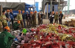 Tiêu huỷ 63 tấn hàng hóa vi phạm trị giá gần 6 tỷ đồng