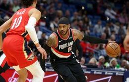 Carmelo Anthony ghi 10 điểm trong ngày trở lại NBA