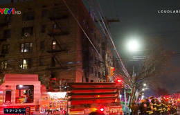 Cháy chung cư ở Mỹ, 20 người bị thương