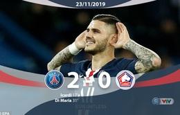 PSG 2-0 Lille: Củng cố ngôi đầu