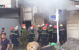 Đà Nẵng: Cháy kho hàng chứa thiết bị điện mặt trời