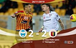 Lecce 2-2 Cagliari: Trận cầu 4 bàn thắng, 3 thẻ đỏ