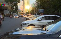 Lắp đặt biển báo xử lý xe vi phạm ở đường thu phí đỗ ô tô