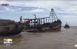 Bến Tre: Cháy 3 tàu cá, thiệt hại gần 12 tỷ đồng