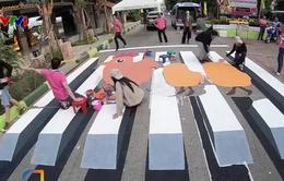 Độc đáo vạch qua đường 3D dành cho người đi bộ tại Thái Lan