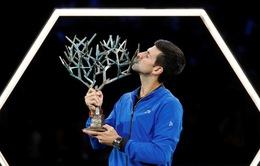 Thắng dễ Shapovalov, Djokovic lên ngôi vô địch Paris Masters 2019