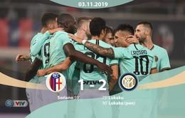 Bologna 1-2 Inter Milan: Người hùng Lukaku