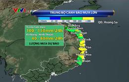 Mưa lớn ở khu vực Trung Bộ dự báo kéo dài