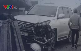 """Xe sang Lexus biển """"ngũ quý 7"""" gây tai nạn chết người ở Sóc Sơn"""