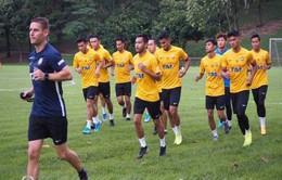 ĐT Malaysia chỉ có 12 cầu thủ đang tập luyện chuẩn bị cho trận gặp Thái Lan
