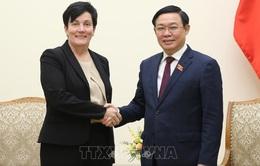 Phó Thủ tướng Vương Đình Huệ tiếp Giám đốc Điều hành Tổ chức Tài chính quốc tế