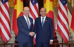 Thủ tướng Nguyễn Xuân Phúc tiếp Bộ trưởng Bộ Thương mại Hoa Kỳ