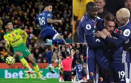 Kết quả bóng đá sáng 9/11: Norwich City 0-2 Watford, Real Sociedad 1-1 Leganes, Sassuolo 3-1 Bologna