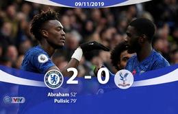 Chelsea 2-0 Crystal Palace: The Blues tạm chiếm ngôi nhì bảng