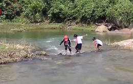 Quảng Nam trôi cầu tạm gây khó khăn cho người dân Bắc Trà My