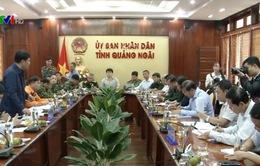 Kiểm tra công tác ứng phó bão số 6 tại Quảng Ngãi