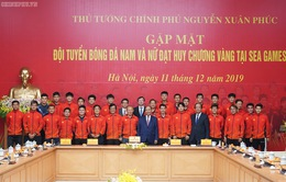 Chùm ảnh: Thủ tướng Nguyễn Xuân Phúc gặp đội tuyển bóng đá Việt Nam