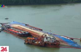 Tìm thấy thi thể nạn nhân cuối cùng bị mất tích khi trục vớt tàu chìm trên sông Lòng Tàu