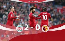 Vòng 17 Ngoại hạng Anh: Thắng nhàn Watford, Liverpool nối dài mạch bất bại
