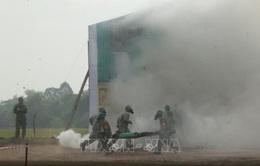 Quân đội Việt Nam - Campuchia diễn tập chung cứu hộ cứu nạn