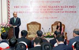 Thủ tướng gặp bà con kiều bào tại Myanmar
