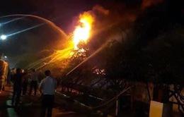 Cháy lớn tại xưởng đế giày