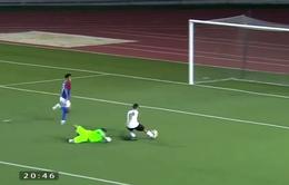 Bỏ lỡ khó tin: Tiền đạo U22 Timor Leste lừa bóng qua thủ môn vẫn không thể ghi bàn