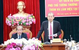 Phó Thủ tướng thường trực Trương Hòa Bình làm việc với tỉnh Lâm Đồng