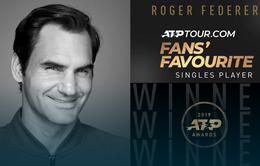 Roger Federer có lần thứ 17 được bầu chọn là tay vợt được yêu thích nhất