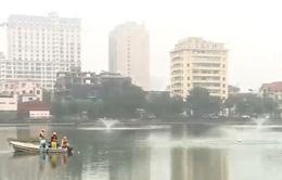 Hà Nội triển khai làm sạch hồ cho dịp Tết