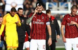 Kết quả, bảng xếp hạng vòng 17 VĐQG Italia Serie A: Atalanta 5-0 AC Milan, Sassuolo 1-2 Napoli
