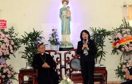 Phó Chủ tịch nước Đặng Thị Ngọc Thịnh chúc mừng Giáng sinh tại Tòa Giám mục Giáo phận Bùi Chu