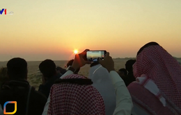Nhiều quốc gia châu Á được chứng kiến hiện tượng nhật thực vòng tròn lửa siêu hiếm