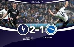 Tottenham 2-1 Brighton: Harry Kane cùng Dele Alli toả sáng, Tottenham thắng ngược dòng Brighton