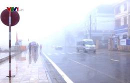 Cảnh báo lái xe đường sương mù tại Sa Pa