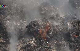 Bãi rác Cam Ly vẫn tiếp tục cháy
