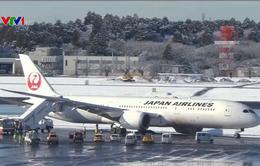 Máy bay Nhật Bản trượt khỏi đường băng