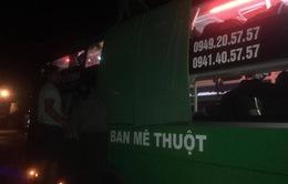 4 xe khách chạy qua TP Pleiku bị ném đá lúc nửa đêm