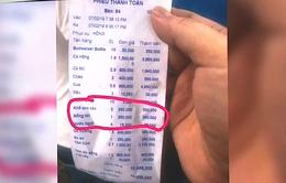 """Nhà hàng ở Nha Trang """"chém"""" 3 đĩa rau 750.000 đồng"""