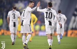 Juventus 3-0 Frosinone: Ronaldo lập công, Dybala ghi siêu phẩm!