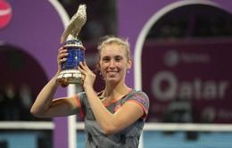 Vượt qua Simona Halep, Elise Mertens lần đầu đăng quang tại Qatar mở rộng