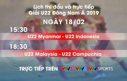 Lịch thi đấu và trực tiếp U22 Đông Nam Á ngày 18/2: Chủ nhà ra quân