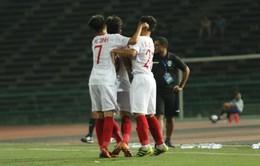 Thắng đậm U22 Timor Leste, U22 Việt Nam vào bán kết sớm 1 vòng đấu với ngôi đầu bảng A