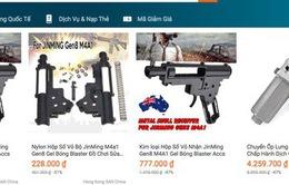 Công khai bán linh kiện vũ khí gây sát thương trên trang thương mại điện tử